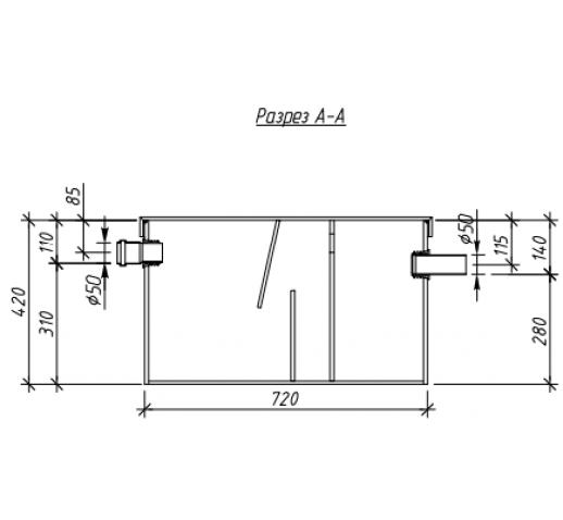 Жироуловитель под мойку Alta-M-in 1.0-80