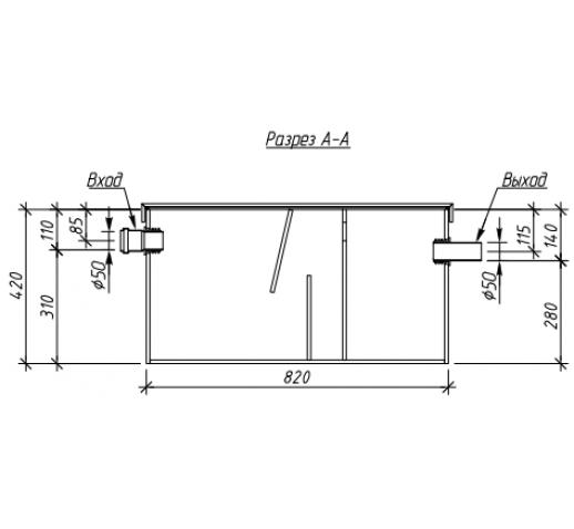 Жироуловитель под мойку Alta-M-in 1.5-125