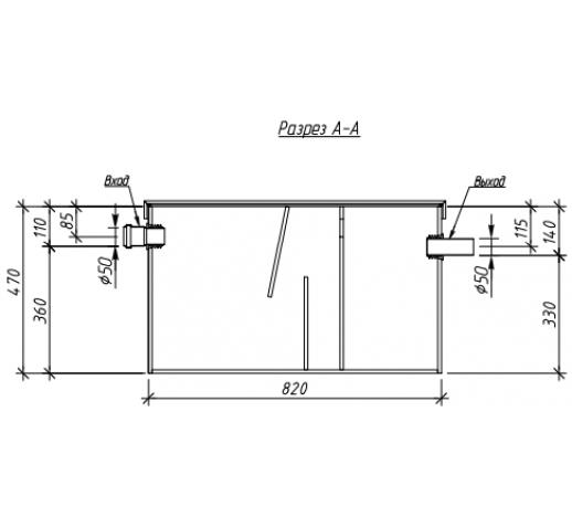 Жироуловитель под мойку Alta-M-in 1.5-150