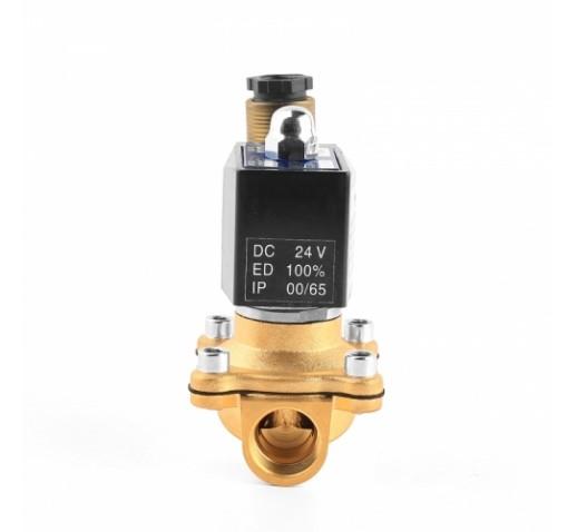 """Клапан электромагнитный латунный PN10 2W160-25 нормально-закрытый ДУ 1"""", 25 мм AC220V"""