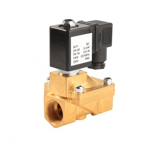 """Клапан электромагнитный латунный PN16 SLP130-25 нормально-закрытый ДУ 1"""", 25 мм AC220V"""