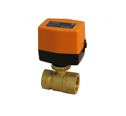 Кран шаровый SMART QT-330823 двухходовой с электроприводом DN 20