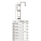"""Скважинный центробежный насос 75SWS 1,2-60-0,45+кабель """"Насосы плюс оборудование"""""""