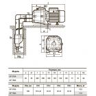"""Центробежный насос +эжектор DP750A """"Насосы плюс оборудование"""""""