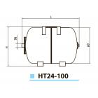 """Гидроаккумулятор HT24 """"Насосы плюс оборудование"""""""
