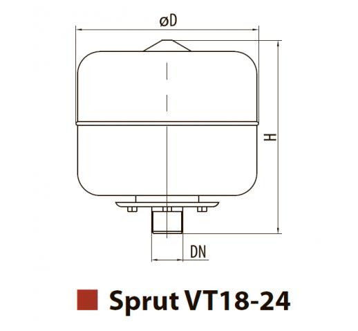 """Бак расширительный для систем отопления VT18 """"Sprut"""""""