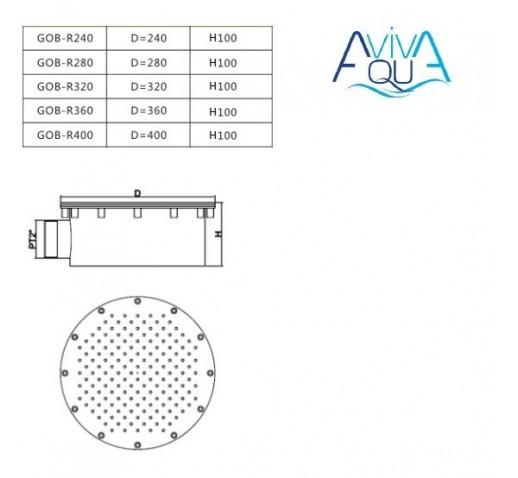 Гейзер Aquaviva GOB-R400 (D400 мм)