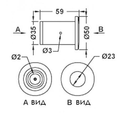 Кнопка Aquaviva для гидромассажа резьбовая EM1845
