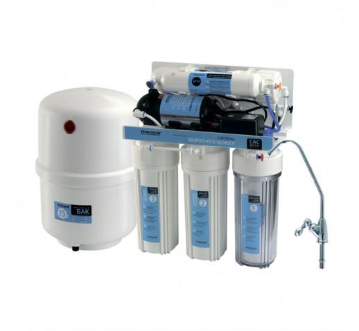 """Система фильтрации воды обратного осмоса CAC-ZO-5P,насос """"Насосы плюс оборудование"""""""