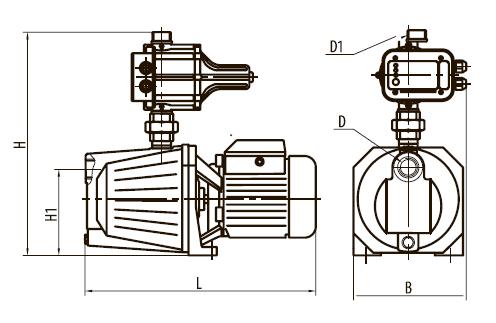 """Насосная станция AU GARDEN-JS1,5/Е1 """"Насосы плюс оборудование"""""""