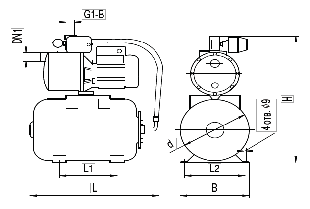 """Насосная станция AU GARDEN-JP 1,5/24L """"Насосы плюс оборудование"""""""