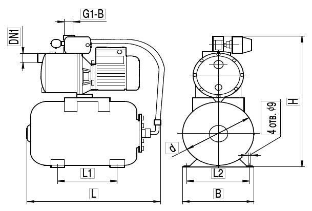 """Насосная станция AU JEX750/24L """"Насосы плюс оборудование"""""""