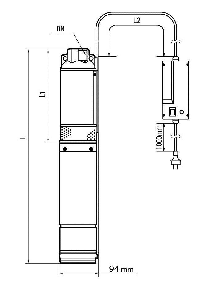 Скважинный центробежный насос БЦП 1,8-18У*