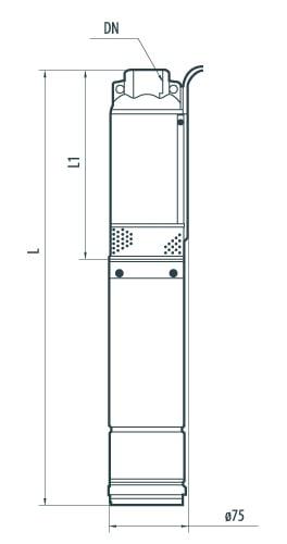 Скважинный центробежный насос  75QJD110-0,25