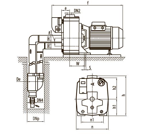 """Центробежный насос +эжектор DDPm505A """"Насосы плюс оборудование"""""""