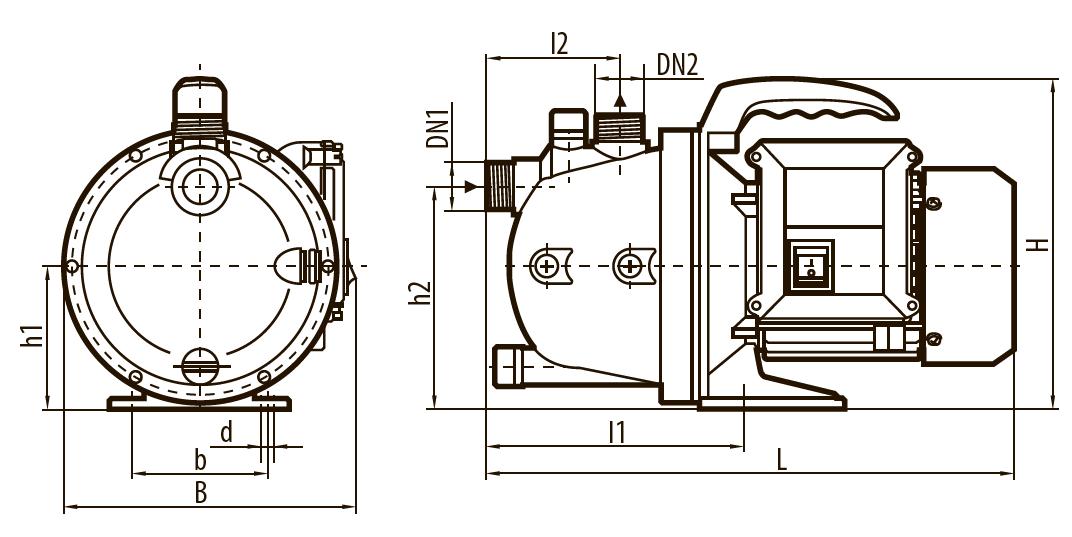 """Самовсасывающий насос GARDEN-JP 1,5-25/0,8 """"Насосы плюс оборудование"""""""