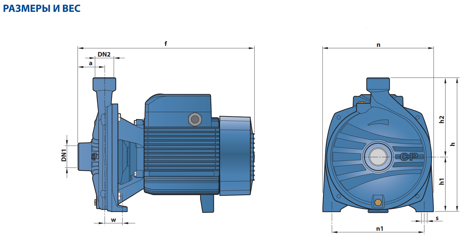 """Центробежный электронасос с мощностью электродвигателя от 1,1-11 КВТ CP 160B """"Pedrollo"""""""