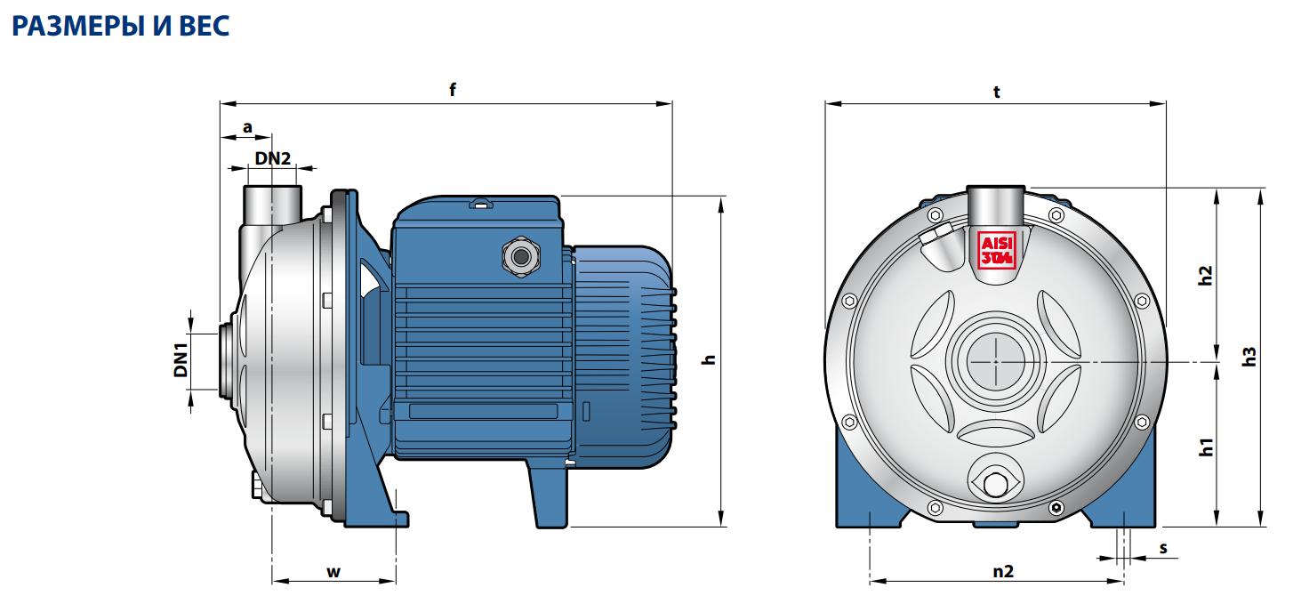 """Центробежный электронасос с мощностью электродвигателя от 0,25 до 1,1 КВТ CPm 132-ST4 """"Pedrollo"""""""