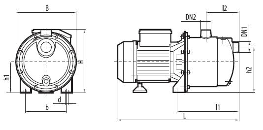 "Центробежный самовсасывающий насос JSS 1100 ""Sprut"""