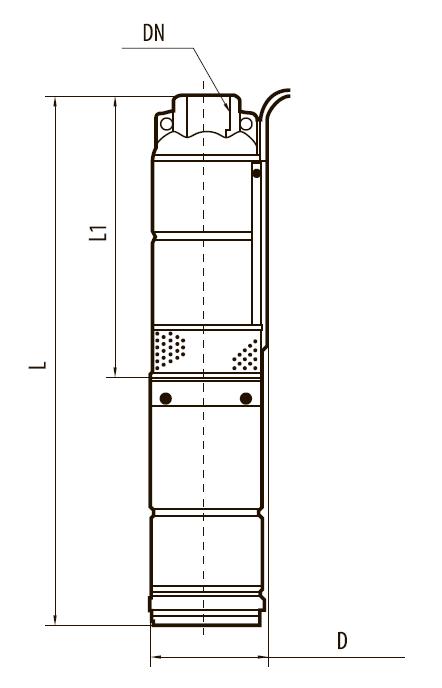 Шнековый скважинный насос QGDa1,5-120-1,1