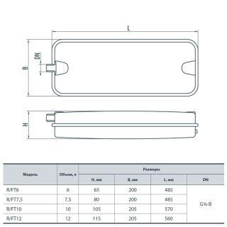 Бак расширительный для систем отопления R/FT12