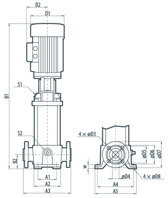 """Центробежный трехфазный многоступенчатый насос TTDF22-69 """"Sprut"""""""