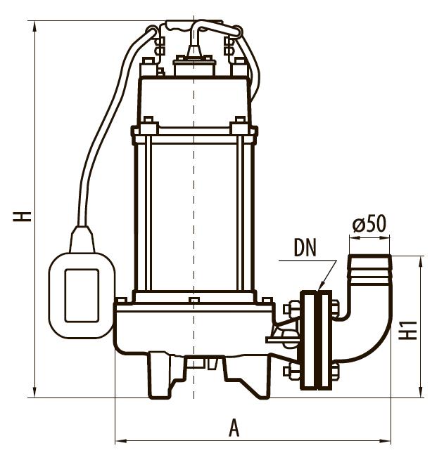 Дренажно-фекальный насос V1800C
