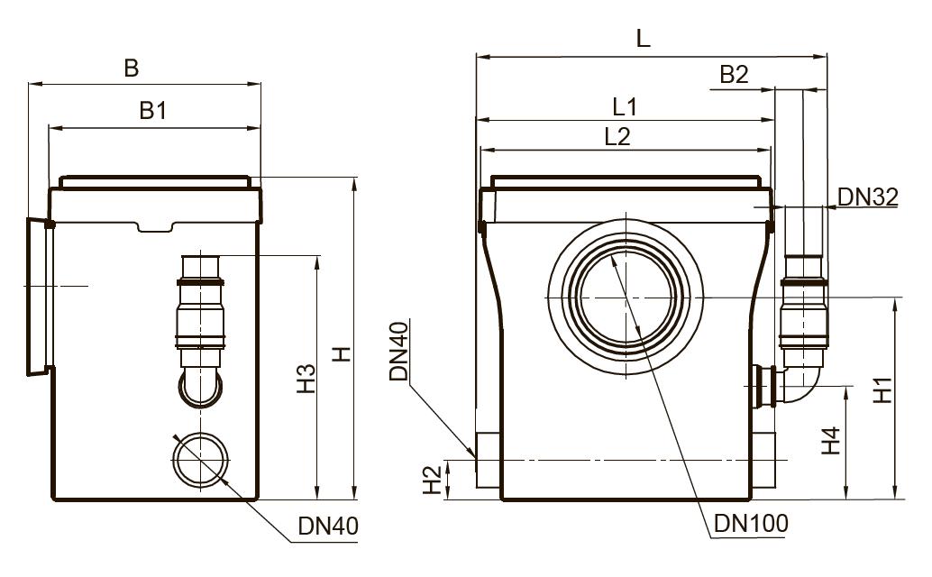 Канализационная бытовая установка WCLift400/3